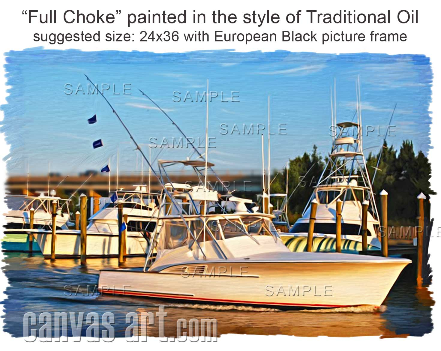 Photo To Painting For Full Choke In Fort Myers Florida